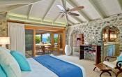 Luxury cottage bedroom Petit St Vincent Caribbean islands